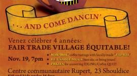 Poster / Affiche • Fair Trade Town Anniversary / Village équitable anniversaire